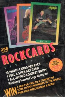 Rock Cards Series One Box (1991 RockCards Inc.)