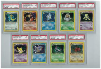 Pokemon Team Rocket 1st Edition Complete 83/82 Set - All Holos PSA Graded!