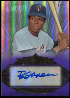 2014 Topps Tribute To The Stars Autographs Purple #TSARC1 Rod Carew 1/1