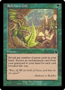 Magic the Gathering Urza's Destiny Single Rofello's Gift FOIL