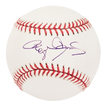 Roger Clemens Autographed New York Yankees Official MLB Baseball (Steiner)