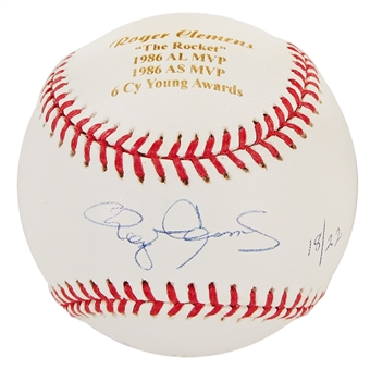 Roger Clemens Autographed Official MLB Baseball #18/22 (Steiner)