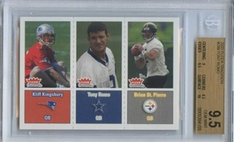 2003 Fleer Tradition Football # 299 Kliff Kingsbury Tony Romo Brian St. Pierre RC BGS 9.5 Gem Mint
