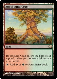 Magic the Gathering 2013 Single Rootbound Crag Foil