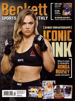 2015 Beckett Sports Card Monthly Price Guide (#367 October) (Ronda Rousey)