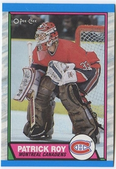 1989/90 O-Pee-Chee Hockey Patrick Roy Card #17 (75 Count Lot)
