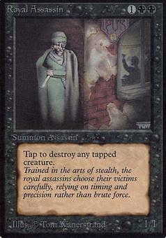 Magic the Gathering Alpha Single Royal Assassin - SLIGHT PLAY (SP)