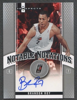 2006/07 Fleer Hot Prospects Notable Notations #BR Brandon Roy 35/50 Auto