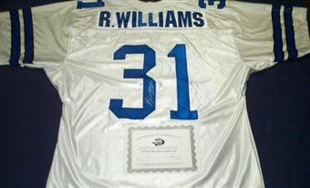 Roy Williams Autographed Dallas Cowboys White Football Jersey