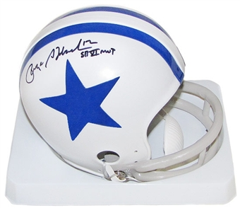 Roger Staubach Autographed Dallas Cowboys Throwback Mini Helmet (MVP Insc.)