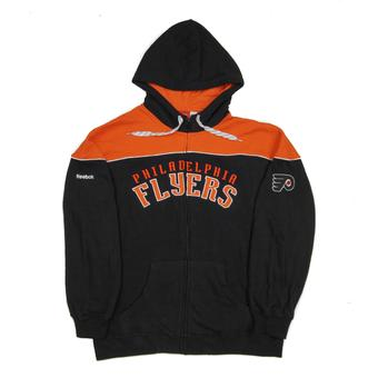 Philadelphia Flyers Reebok Black Score Full Zip Fleece Hoodie (Adult M)