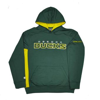Oregon Ducks Colosseum Green & Yellow Charger Pullover Fleece Hoodie (Adult XXL)