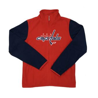 Washington Capitals Reebok Red Full Zip Microfleece Jacket (Womens S)