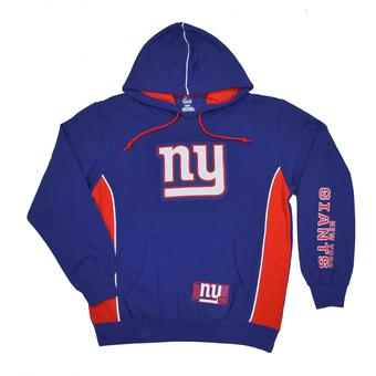 New York Giants Majestic Blue Passing Game IV Fleece Hoodie (Adult M)