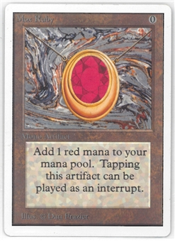 Magic the Gathering Unlimited Single Mox Ruby - SLIGHT PLAY (SP+)