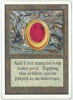 Magic the Gathering Unlimited Single Mox Ruby - MODERATE PLAY (MP)