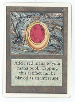 Magic the Gathering Unlimited Single Mox Ruby - SLIGHT/MODERATE PLAY (SP/MP)