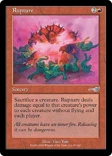 Magic the Gathering Nemesis Single Rupture Foil
