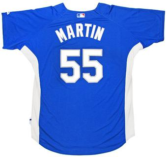 Russell Martin Los Angeles Dodgers Game Used Pactice Jersey