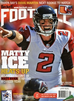 2013 Beckett Football Monthly Price Guide (#264 January) (Matt Ryan)