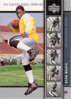 2005 Upper Deck Football Ryan Moats 140 Card RC Lot