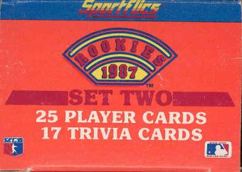 1987 Sportflics Rookies Series 2 Baseball Factory Set