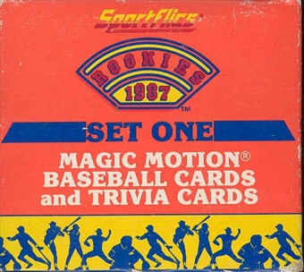 1987 Sportflics Rookies Series 1 Baseball Factory Set