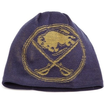 Buffalo Sabres Reebok Navy Game Day Reversible Knit Hat (Adult One Size)
