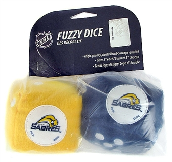 Fremont Die Buffalo Sabres Hockey Fuzzy Dice (Old logo)
