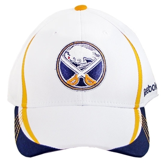 Buffalo Sabres Reebok White Sudden Death Flex Fit Hat (Adult L/XL)