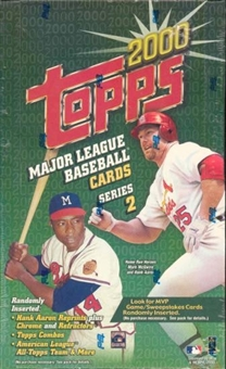 2000 Topps Series 2 Baseball Retail Box