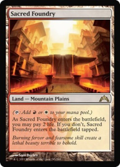 Magic the Gathering Gatecrash Single Sacred Foundry FOIL