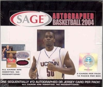 2004/05 Sage Autographed Basketball Hobby Box (Jersey or Auto/pack!)