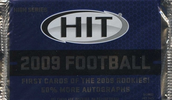 2009 Sage Hit High Series Football Hobby Pack