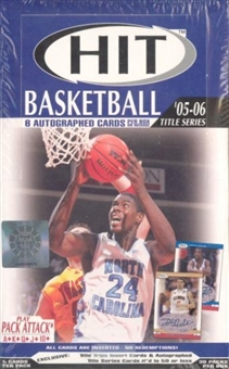 2005/06 Sage Hit Title Series Basketball Hobby Box