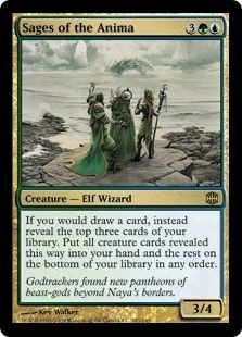 Magic the Gathering Alara Reborn Single Sages of the Anima UNPLAYED (NM/MT) 4x Lot