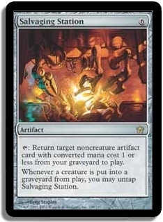 Magic the Gathering Fifth Dawn Single Salvaging Station - NEAR MINT (NM)