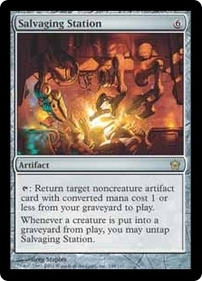 Magic the Gathering Fifth Dawn Single Salvaging Station Foil