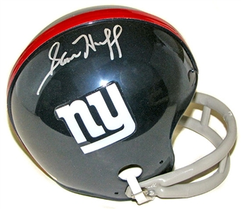 Sam Huff Autographed New York Giants Mini Helmet (Tristar COA)