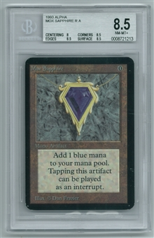 Magic the Gathering Alpha Single Mox Sapphire BGS 8.5 NM-MT+ (8,8.5,8.5,8.5)
