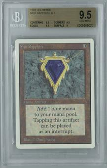 Magic the Gathering Unlimited Single Mox Sapphire BGS 9.5 GEM MINT (9.5,9.5,9.5,9)