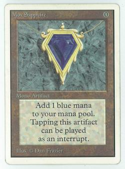 Magic the Gathering Unlimited Single Mox Sapphire - MODERATE PLAY (MP)
