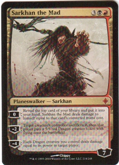 Magic the Gathering Rise of the Eldrazi Single Sarkhan the Mad - SLIGHT PLAY (SP)