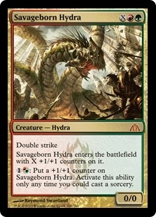 Magic the Gathering Dragon's Maze Single Savageborn Hydra - NEAR MINT (NM)