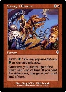 Magic the Gathering Invasion Single Savage Offensive Foil