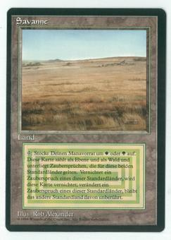 Magic the Gathering 3rd Ed (Revised) FBB GERMAN Single Savannah - NEAR MINT (NM)