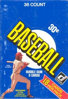 1981 Donruss Baseball Wax Box