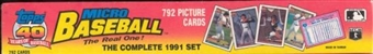 1991 Topps Micro Baseball Factory Set