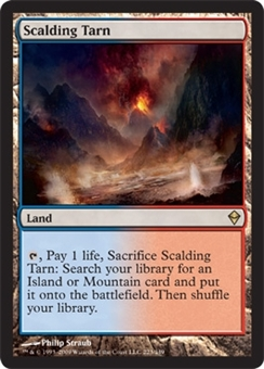 Magic the Gathering Zendikar Single Scalding Tarn FOIL NEAR MINT (NM)