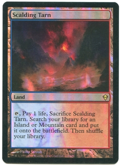 Magic the Gathering Zendikar Single Scalding Tarn FOIL - MODERATE PLAY (MP)